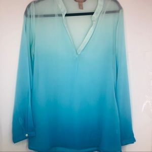 Banana republic sheer women's blouse